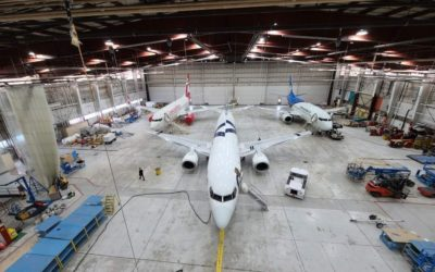 EFC Developments Installs LED Lighting in One of Canada's Largest Hangars – Edmonton